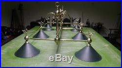 Snooker table lights l for full size table pub /bar /pool/lights with 6 shades