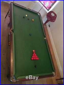 Stunning Slate Bed Pool Snooker Table 7' Seven Foot & full accessories 3/4 sized