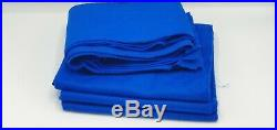 Super Pro Pool table cloth royal blue 7x4 pack bed and cushions