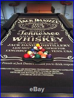 Supreme Slate 7ft Jack Daniels pool table & Accessories All In Great Condition