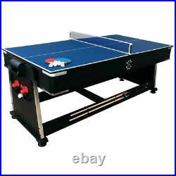 Sure Shot 7ft 3-in-1 Pool, Air Hockey and Tennis Table Accessories Included New
