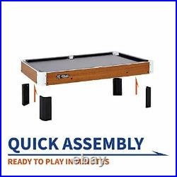 Tabletop Pool Table Set and Accessories, 40 x 20 Gray/Wood Brown/White/Black