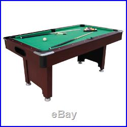Uk green Pool table 6ft brown mahogany green blue all accessories snookerl
