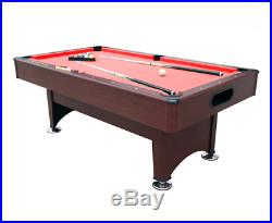 Uk red Pool table 7ft brown mahogany all accessories snooker pub