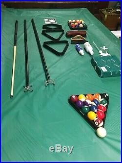 Used Fullsize 9ft Rileys American pool table (with accessories). Great condition