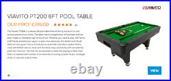 VIAVITO 6ft Pool Table New Returned item with accessories included