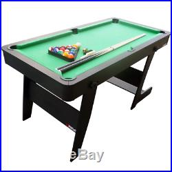 Viavito PT100X 5ft Folding Billard Evergreen Pool Table Accessories Green/Black