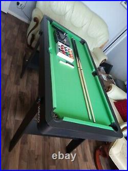 Viavito PT100X 5ft Sturdy Folding Pool Billiard Games Table with Accessories