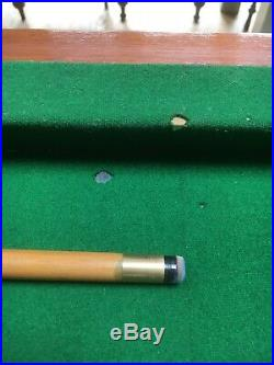 Vintage Slate Bed Snooker Or Pool Table With Accessories (half Size)