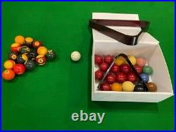 Vintage Snooker/Pool slate bed Table withtable tennis top & accessories