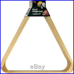 Viper Billiard/Pool Table Accessory 8-Ball Rack Hardwood Triangle Holds Sta