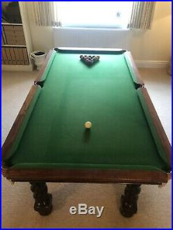 W. Jelks & Sons Pool Table with Cues, Pool Balls, Snooker Balls & Accessories