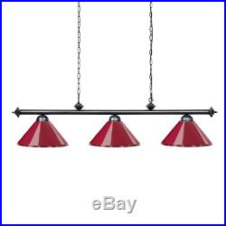 Wellmet Pool Table Lights for 20-23 cm Dining Table with 3 Metal Shades, Lamp Or