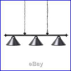 Wellmet Pool Table Lights for 243-274 cm Dining Table with 3 Metal Shades, Lamp