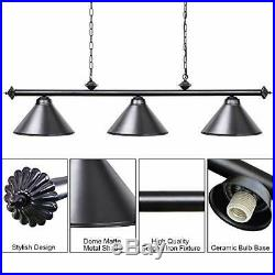 Wellmet Pool Table Lights for 7-9ft Dining Table with 3 (1.5m-3 LightsBlack)