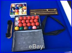 White & Blue DPT Professional Pool Table 7ft With Accessories Superb Cond