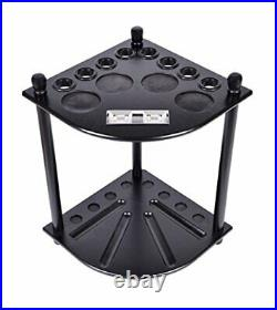 Wood Pool Cue Rack Stick Holder Wall Mount Holder Billiard Table Accessories USA