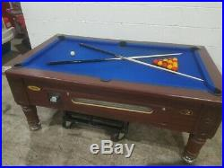(dpt) Ascot Slate Bed Pool Table 6x3 With Royal Blue Cloth